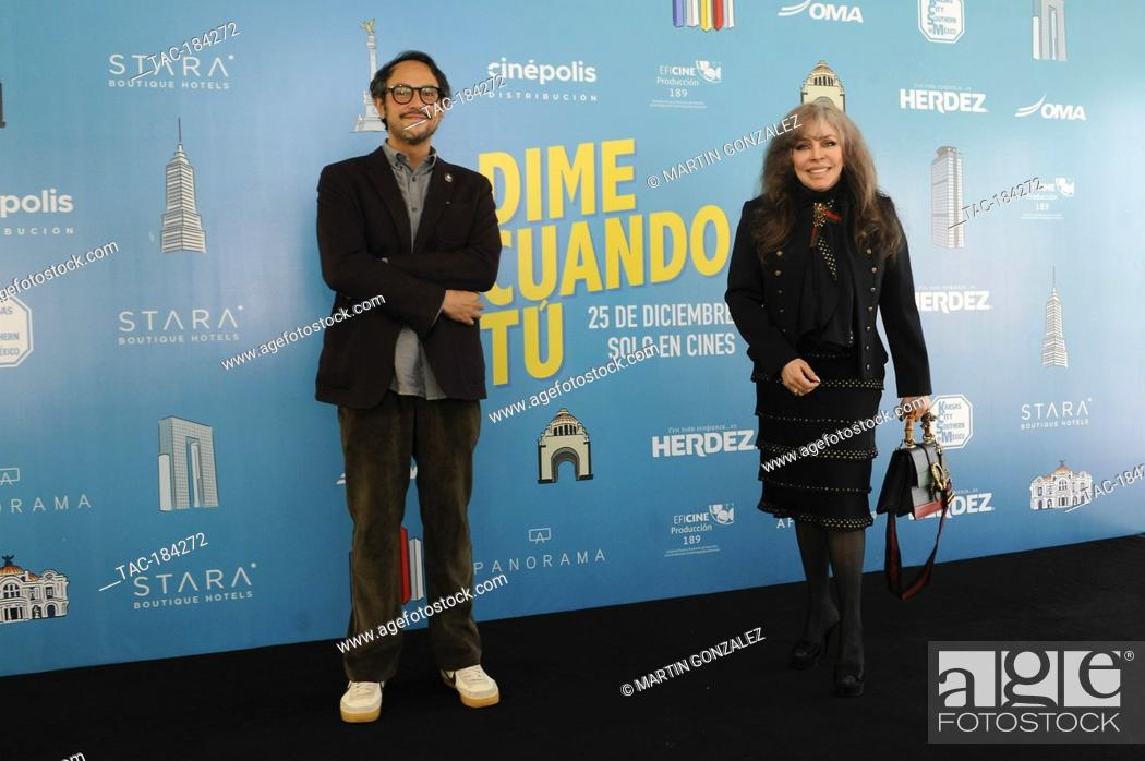 Stock Photo: MEXICO CITY, MEXICO ñ DECEMBER 14: Actress Veronica Castro and Gerardo Gatica during the press conference for the movie ëDime Cuando Tuí on December 14 2020 in.