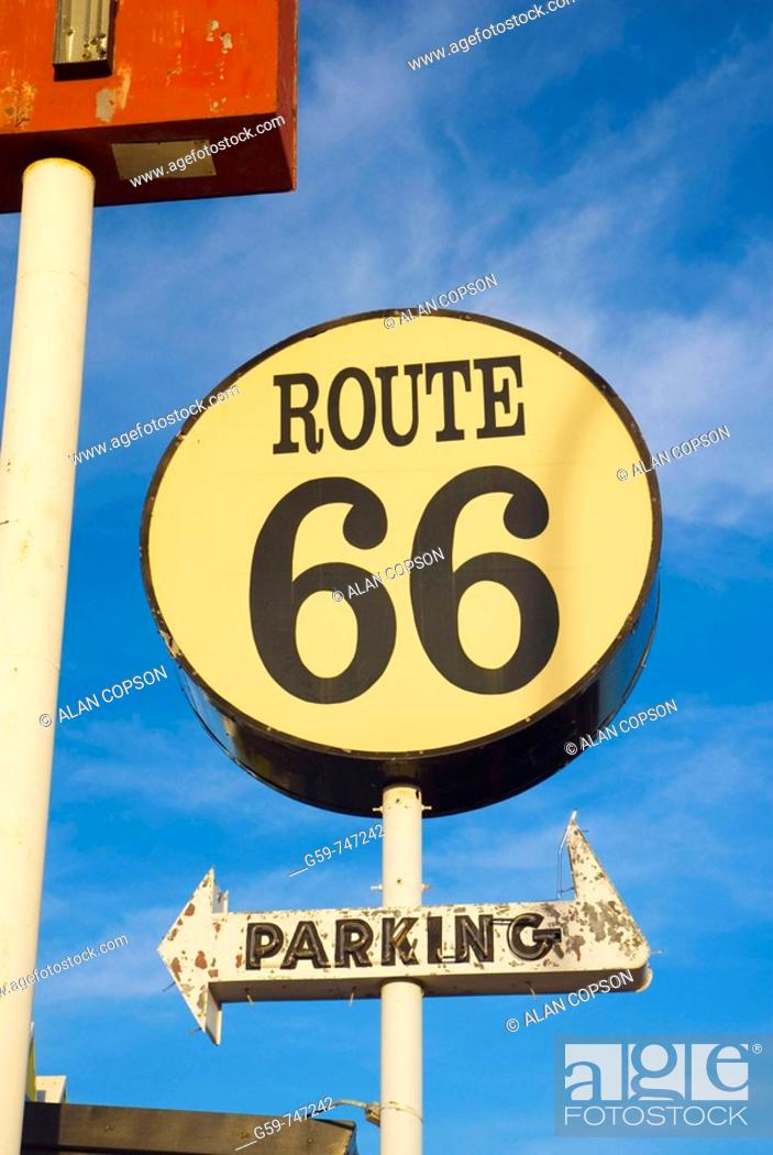 Imagen: USA  New Mexico  Route 66  Santa Rosa  The Route 66 Restaurant.