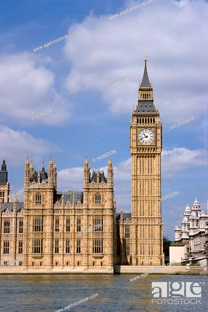 Stock Photo: Travel, United Kingdom, England, London, Westminster, Houses of Parliament,.