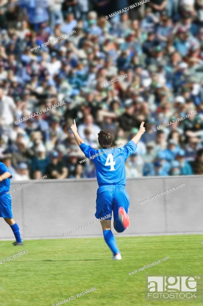 Stock Photo: Goal Celebration.