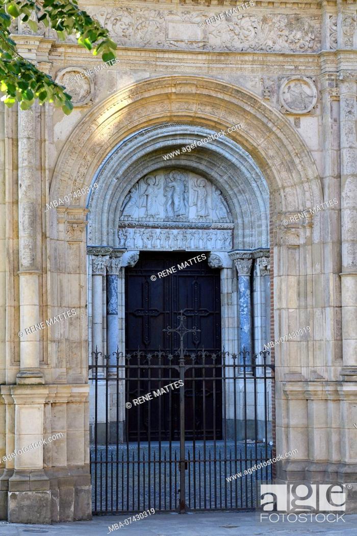 Stock Photo: France, Haute Garonne, Toulouse, a stop on el Camino de Santiago, Saint Sernin basilica listed as World Heritage by UNESCO.