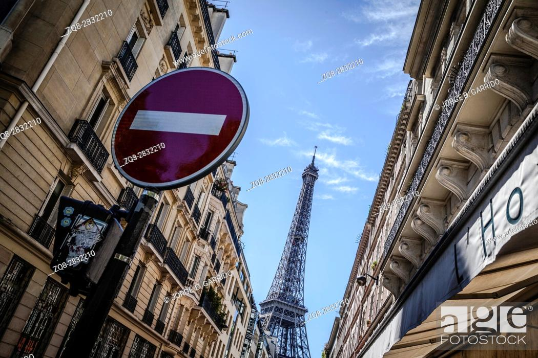 Stock Photo: Eiffel tower in Paris.