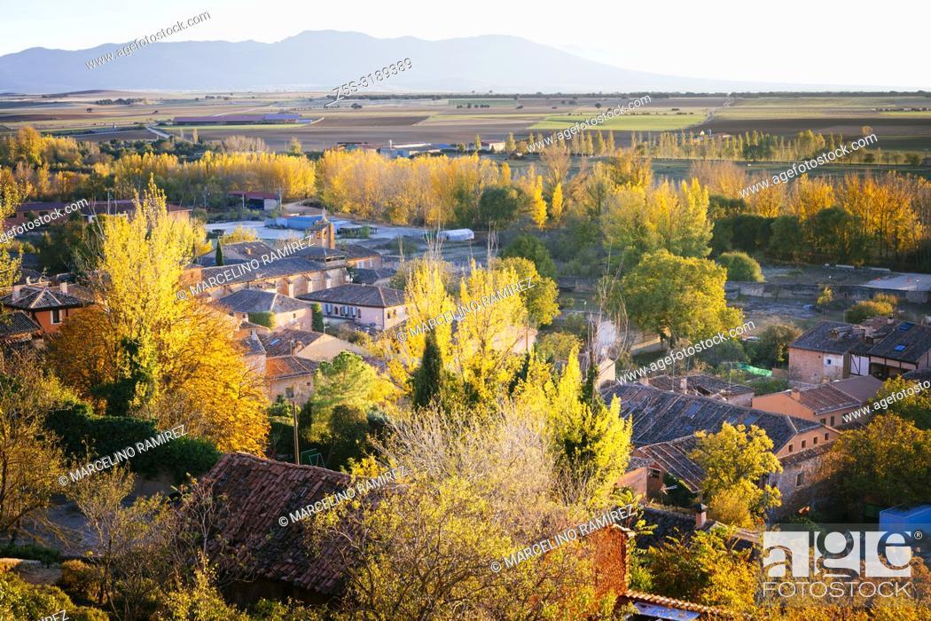Stock Photo: View of Ayllon. Ayllon, Segovia, Castilla y leon, Spain, Europe.