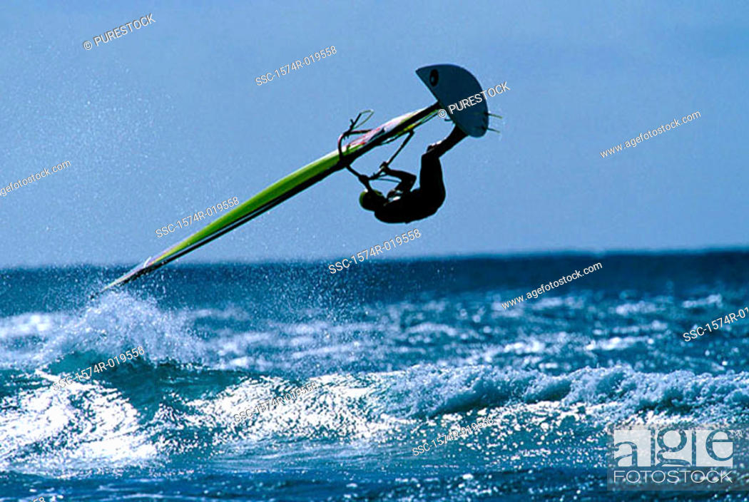 Stock Photo: Windsurfing.
