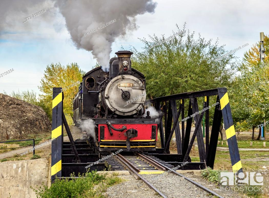 Stock Photo: Old Patagonian Express La Trochita, steam train, Chubut Province, Patagonia, Argentina.