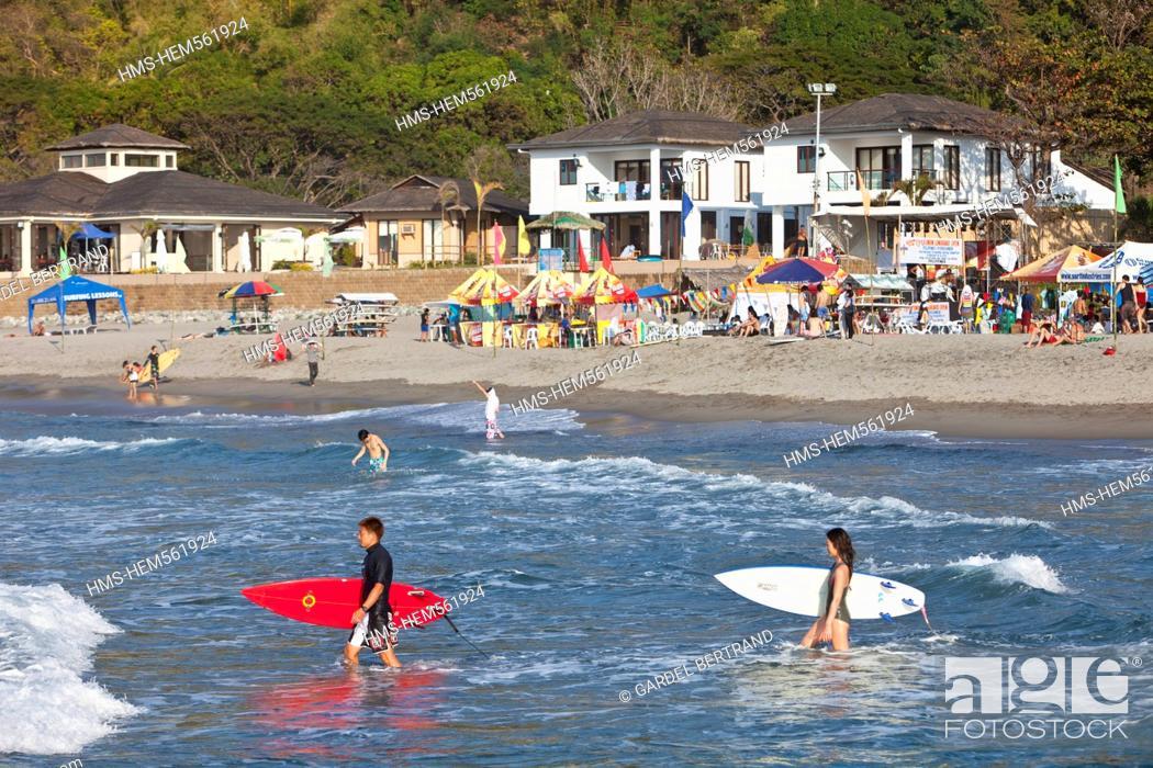 Stock Photo: Philippines, Luzon island, La Union, San Fernando, the surfing beach of San Juan.