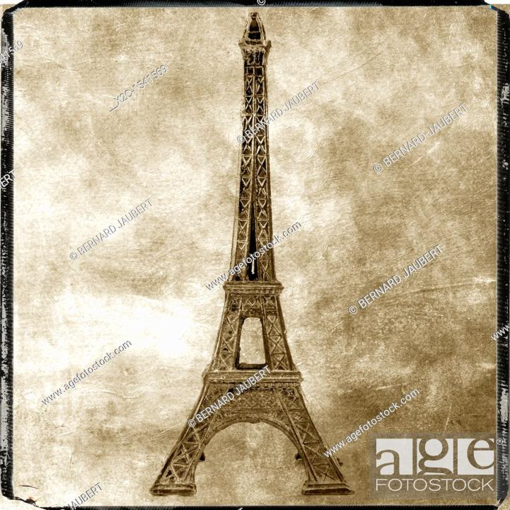 Stock Photo: Illustration of the Eiffel Tower.