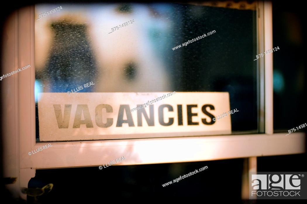 Stock Photo: Vacancies.