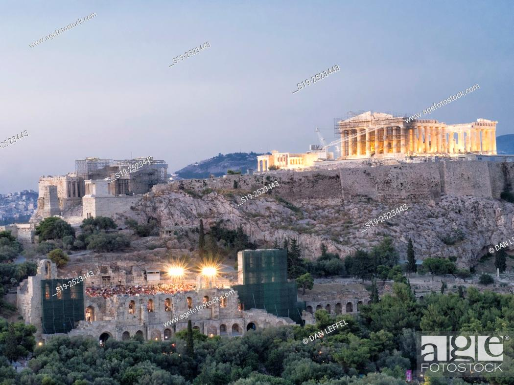 Imagen: Greece. Athens. Parthenon. Sunset.