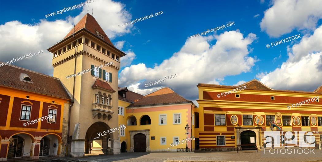 Stock Photo: Old Town Square Koszeg Hungary.