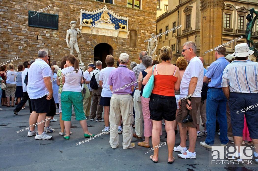 Stock Photo: Piazza della Signoria. Florence. Tuscany. Italy.