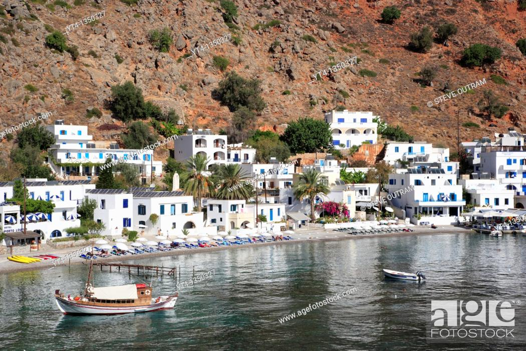 Stock Photo: Loutro, South Crete, Greece.