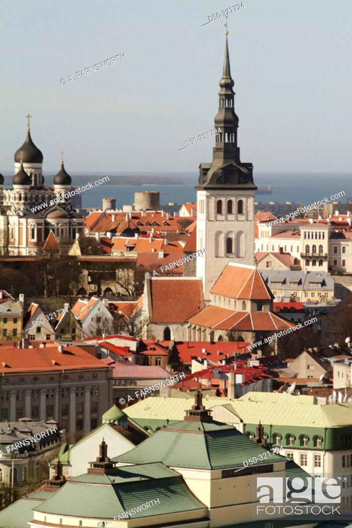 Stock Photo: Old town and Baltic sea. Tallinn. Estonia.