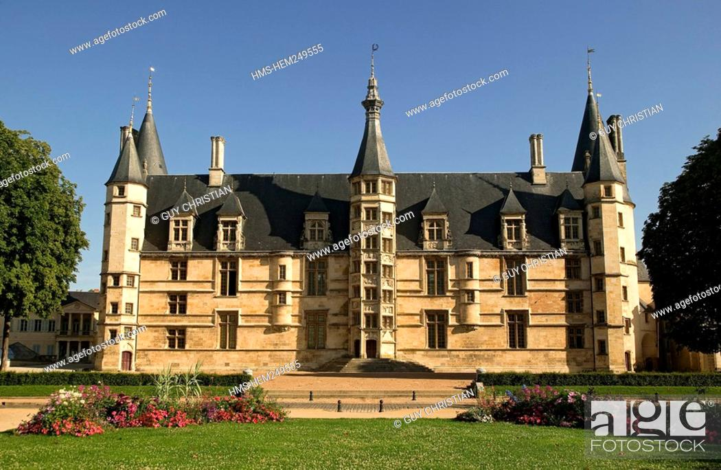 Stock Photo: France, Nievre, Nevers, the Ducal Palace, the Dukes of Nevers' former house.