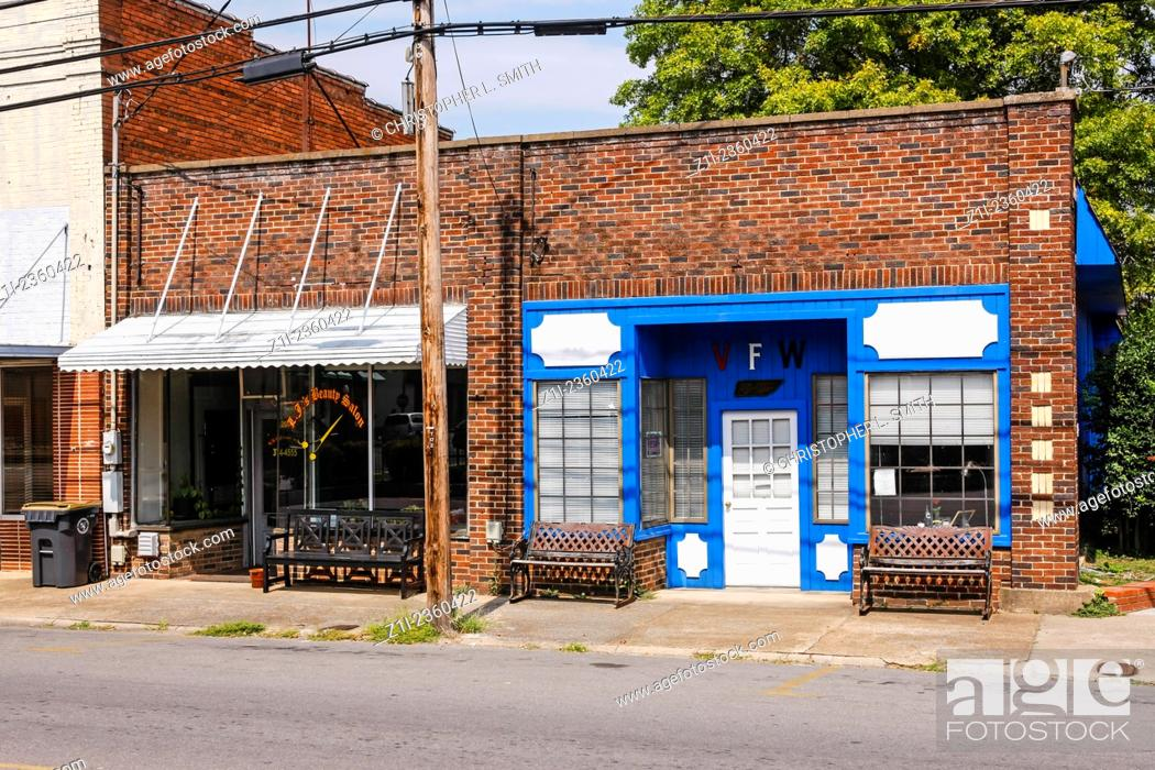 Stock Photo: VFW post in the small town of Hartsville in Tennessee.