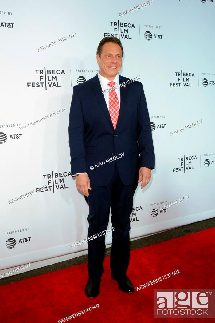 Stock Photo: 2017 Tribeca Film Festival - 'Clive Davis: The Soundtrack Of Our Lives' premiere at Radio City Hall - Red Carpet Arrivals Featuring: Andrew Cuomo Where: New.