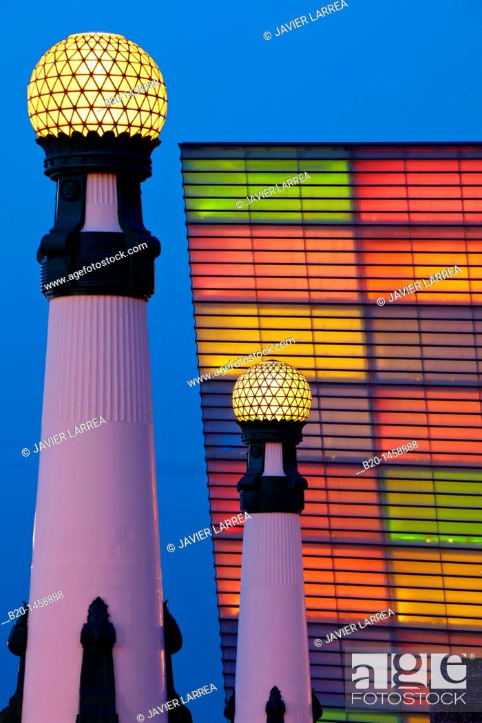 Stock Photo: Carnival decorations, Kursaal, San Sebastian, Donostia, Gipuzkoa, Euskadi, Spain.