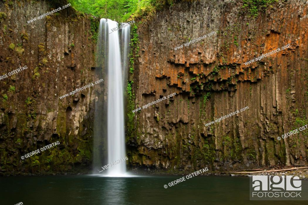 Stock Photo: Abiqua Falls, Marion County, Oregon.