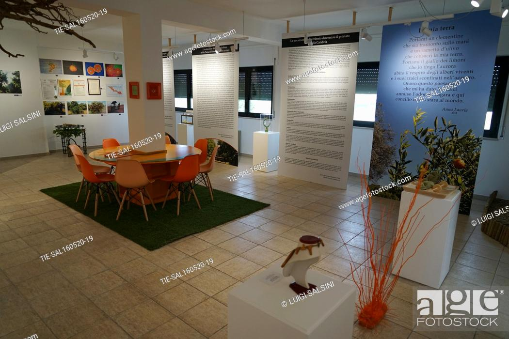 Stock Photo: Views of the Muclem, a museum dedicated to the tangerines , Corigliano Rossano, ITALY-15-05-2020.