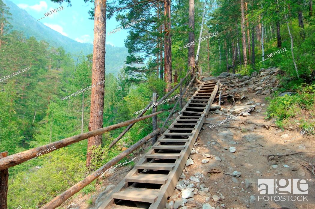 Stock Photo: Arshan, Tunkinsky District, Republic of Buryatia, Siberia, Russian Federation, Sayan Mountains.