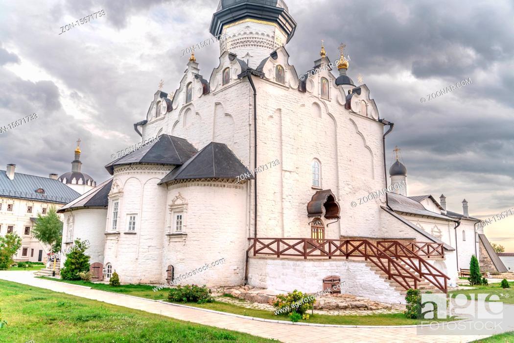 Stock Photo: The Sviyazhsk mail monastery in Tatarstan.