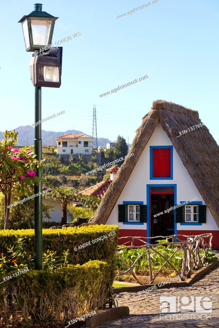 Stock Photo: Santana, Madeira, Portugal.