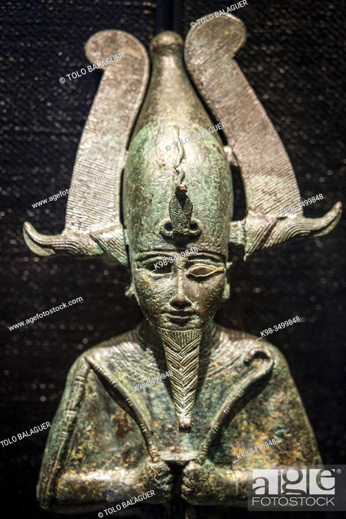 Stock Photo: Osiris god , Gregorian Egyptian Museumn Musei Vaticani, State of the Vatican City, Roma, Lazio, Italia.