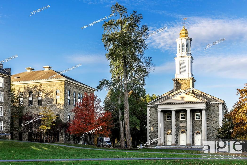 Stock Photo: Colgate University campus, Hamilton, New York, USA.