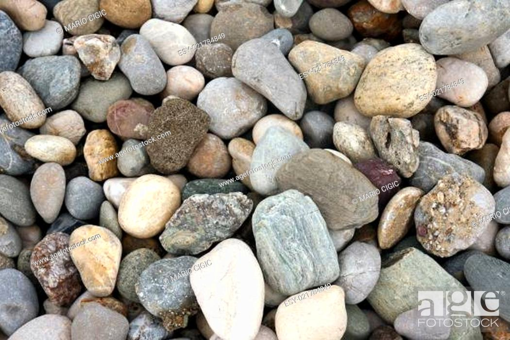 Stock Photo: abstract background with pebble stones.