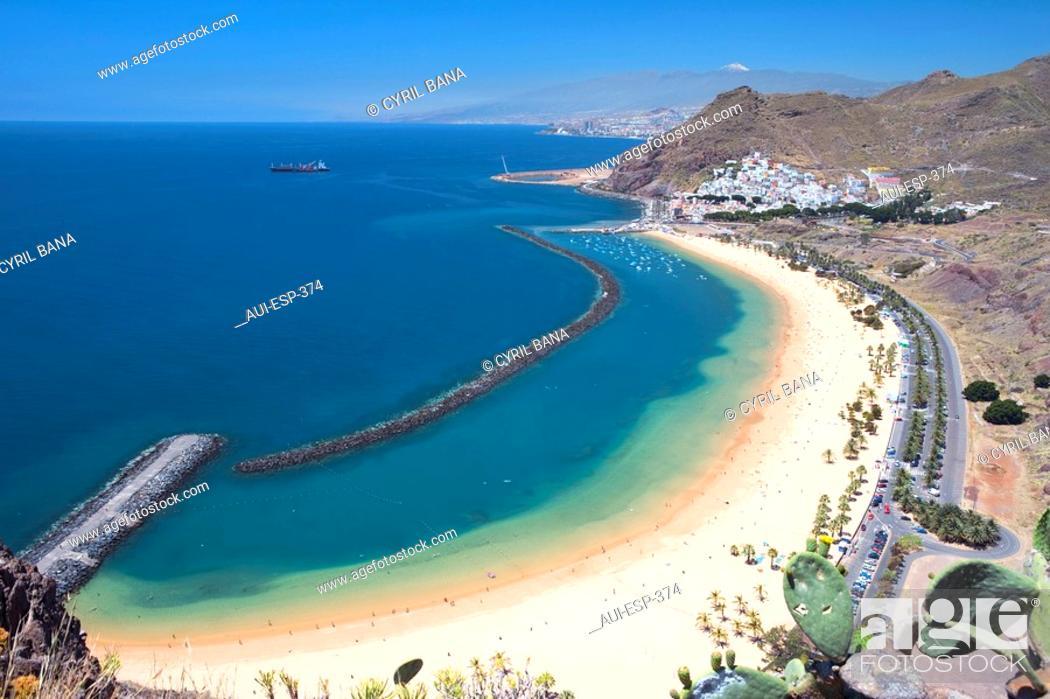 Stock Photo: Spain - Canary Islands - Tenerife - North Region - Playa de Las Teresitas.