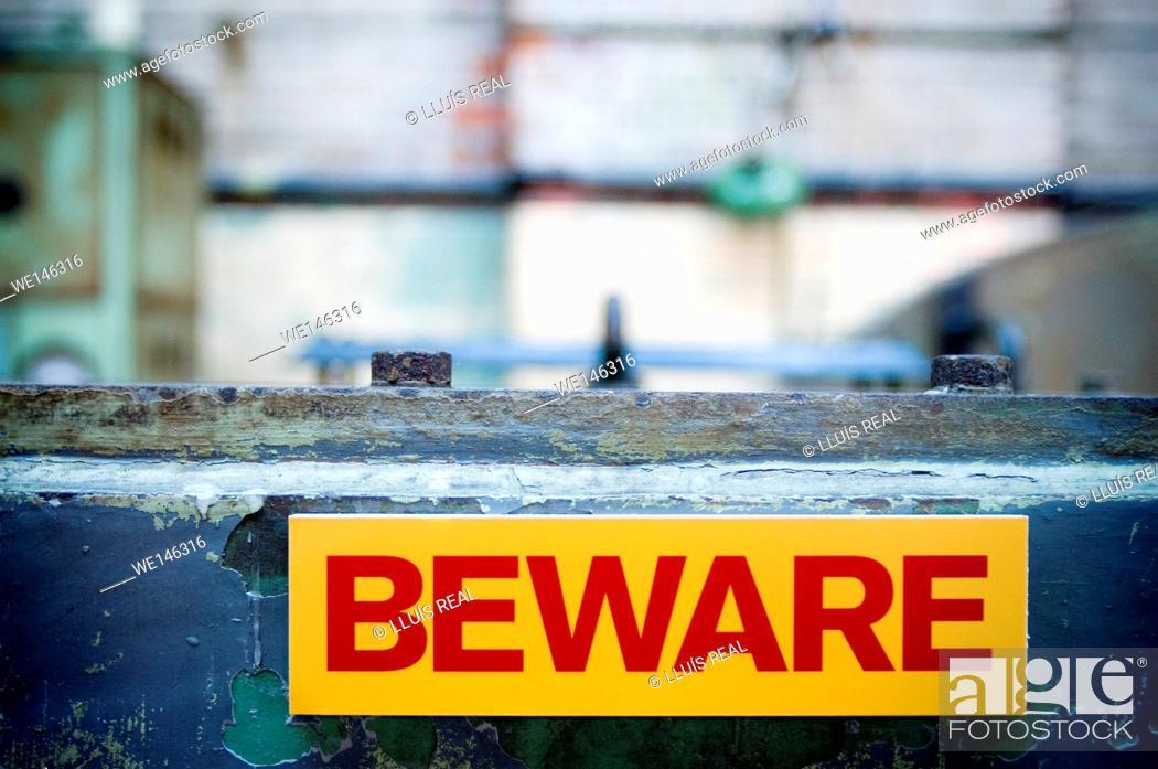 Stock Photo: Beware.