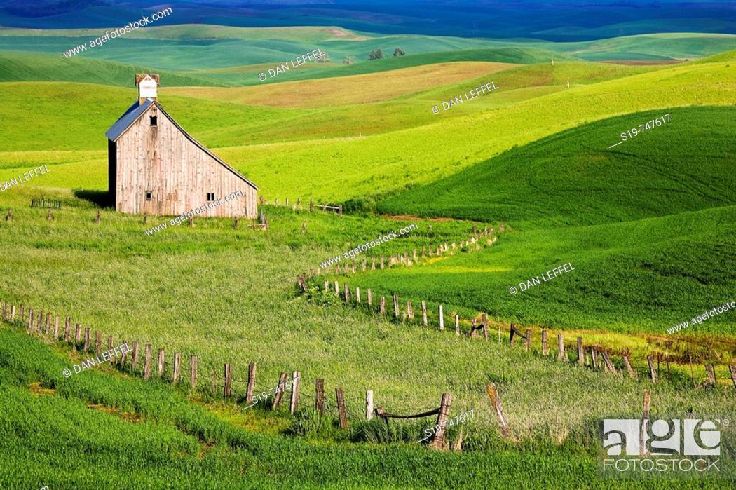 Stock Photo: Barn, Washington, USA.