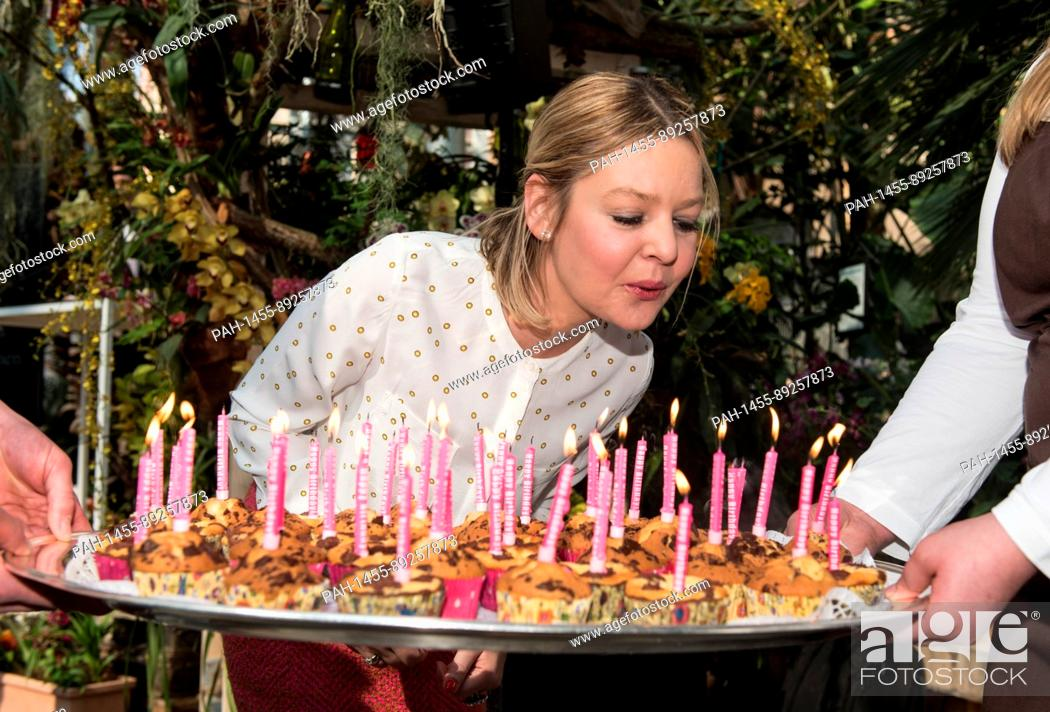 Countess Sandra Bernadotte Blows Out The Candles On Her Birthday