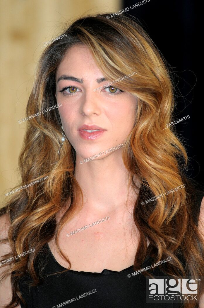 Stock Photo: Giulia Andò; andò; actress; celebrities; 2016; rome; italy; event; photocall ; le confessioni.