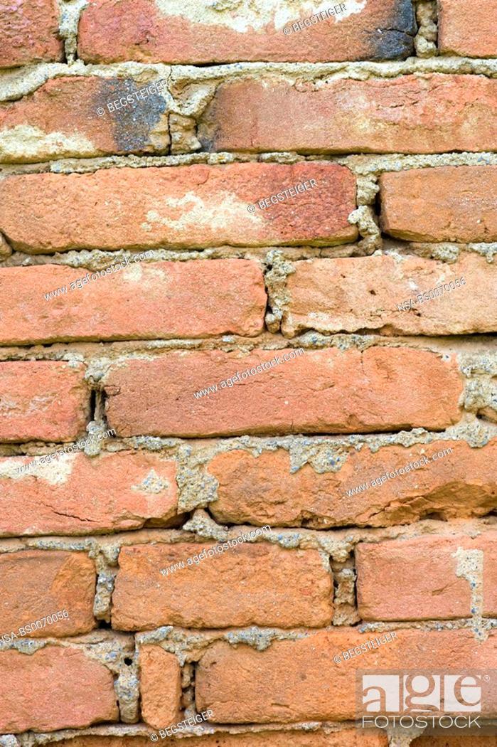 Stock Photo: brick wall.