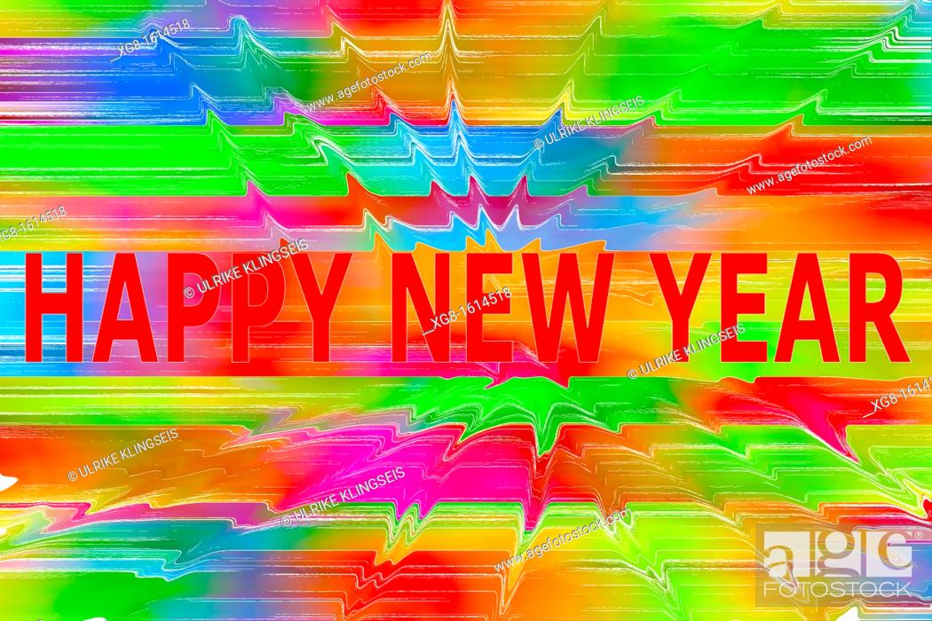 Stock Photo: happy new year.