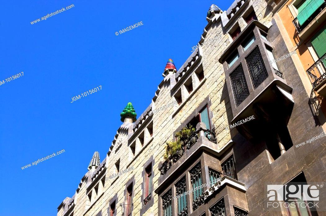 Stock Photo: Spain, Catalonia, Barcelona, Palau Guell.