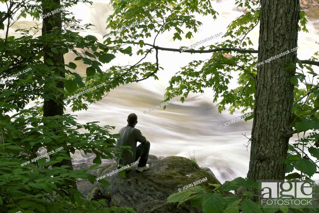 Stock Photo: Overlooking Housatonic River near Kent, Connecticut, USA.