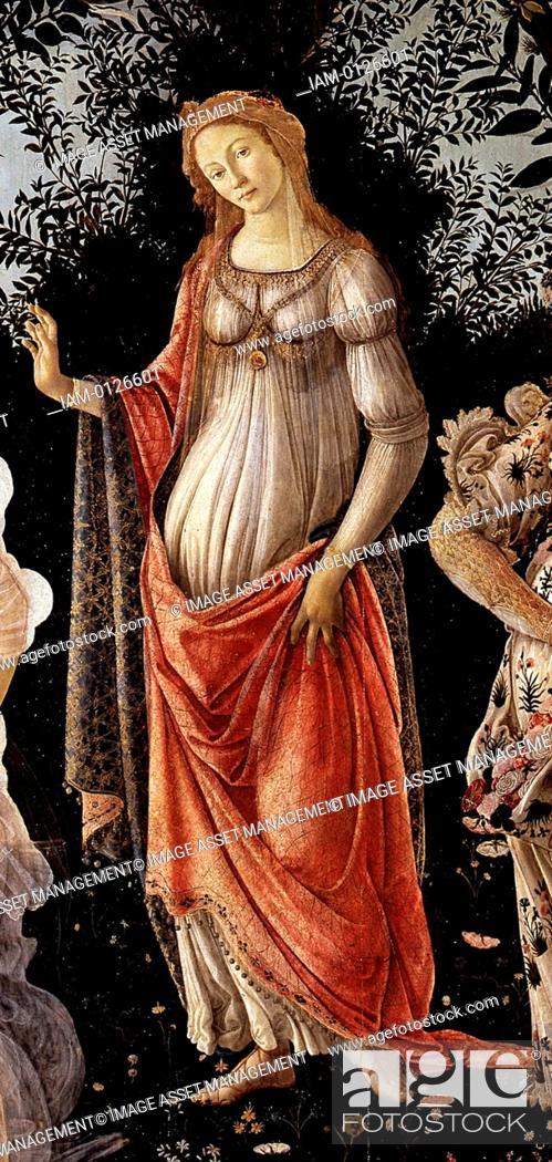 Stock Photo: Sandro Botticelli La Primavera (Spring). (Detail). 1481-1482.