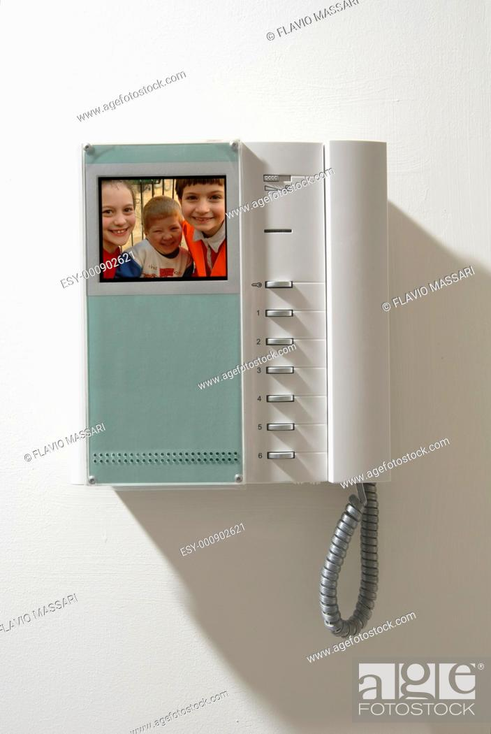 Stock Photo: intercom equipment.
