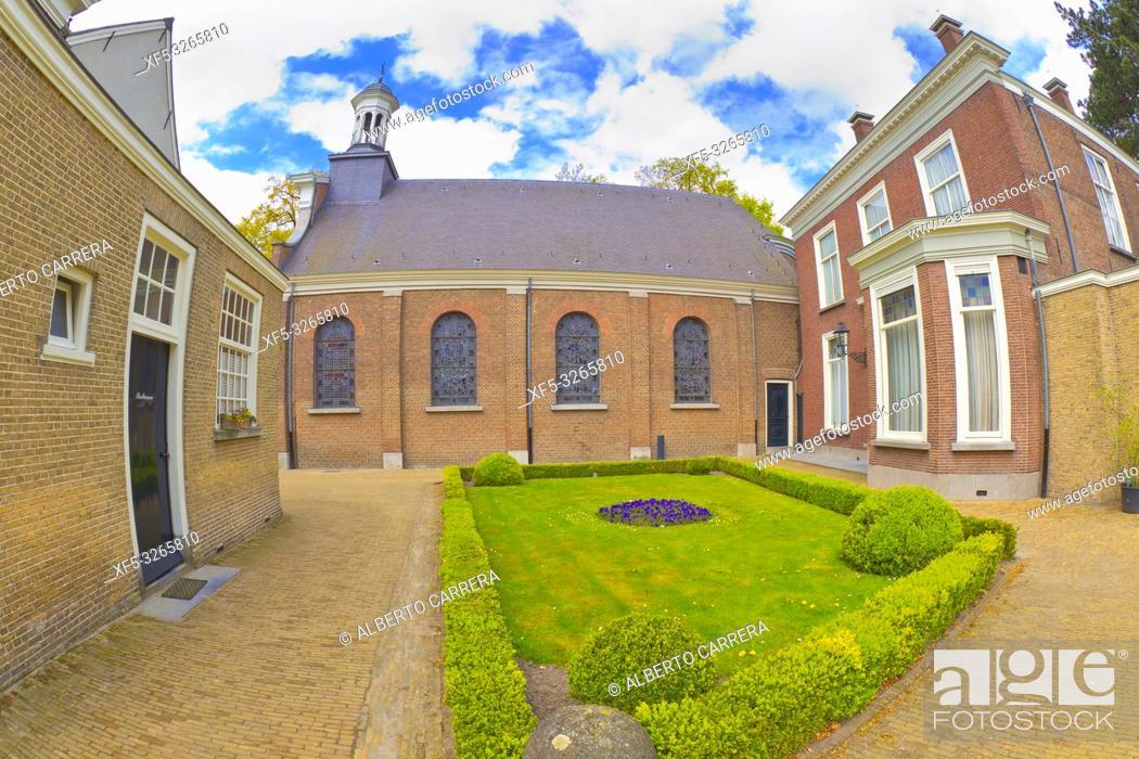 Stock Photo: St. Catharinakerk, Begijnhof, Breda, Noord-Brabant Province, Holland, Netherlands, Europe.