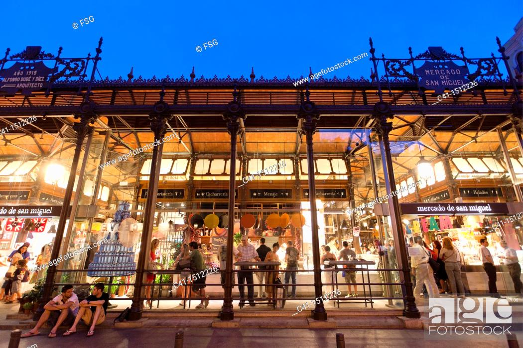 Stock Photo: San Miguel Market, Madrid, Spain.