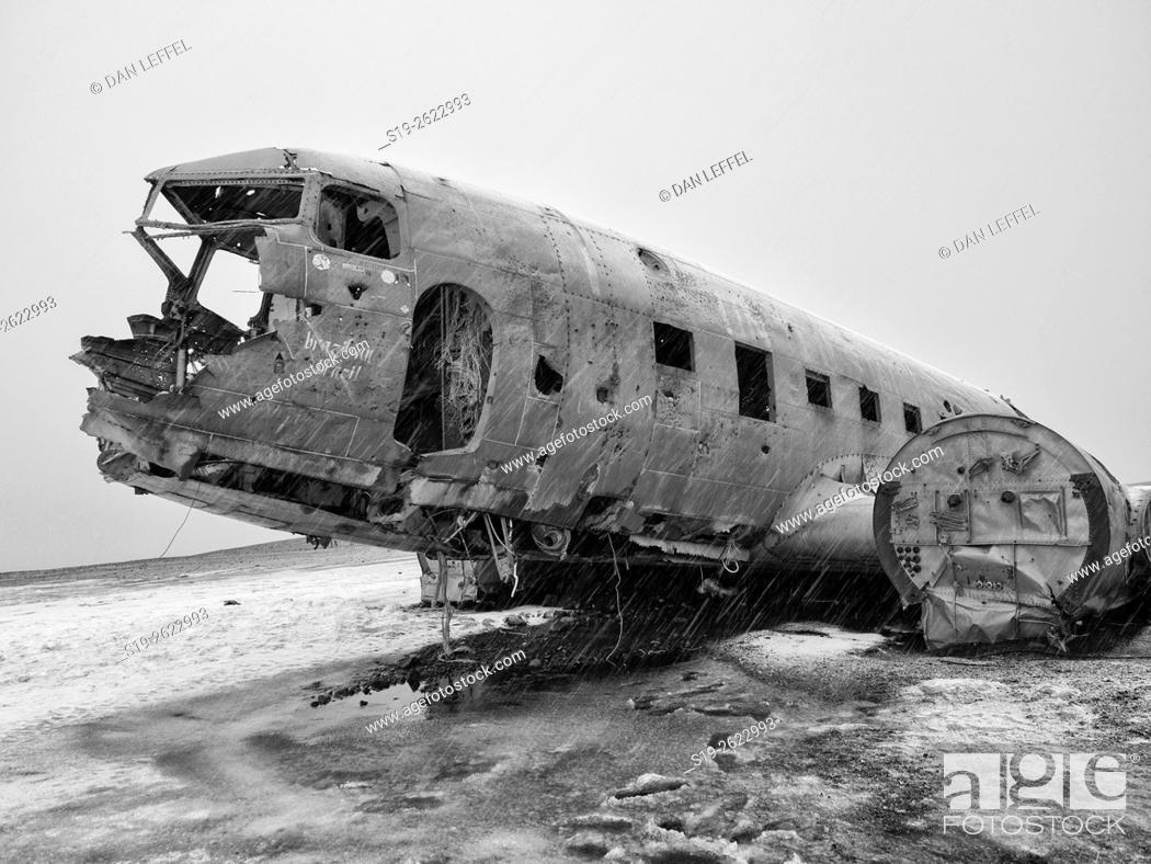 Stock Photo: Iceland Airplane Wreckage.