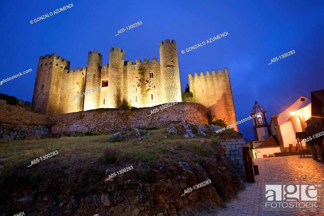 Stock Photo: Portugal, Estremadura, Obidos. Castle built by Alfonso Henriques in 1148, now a Pousada hotel.