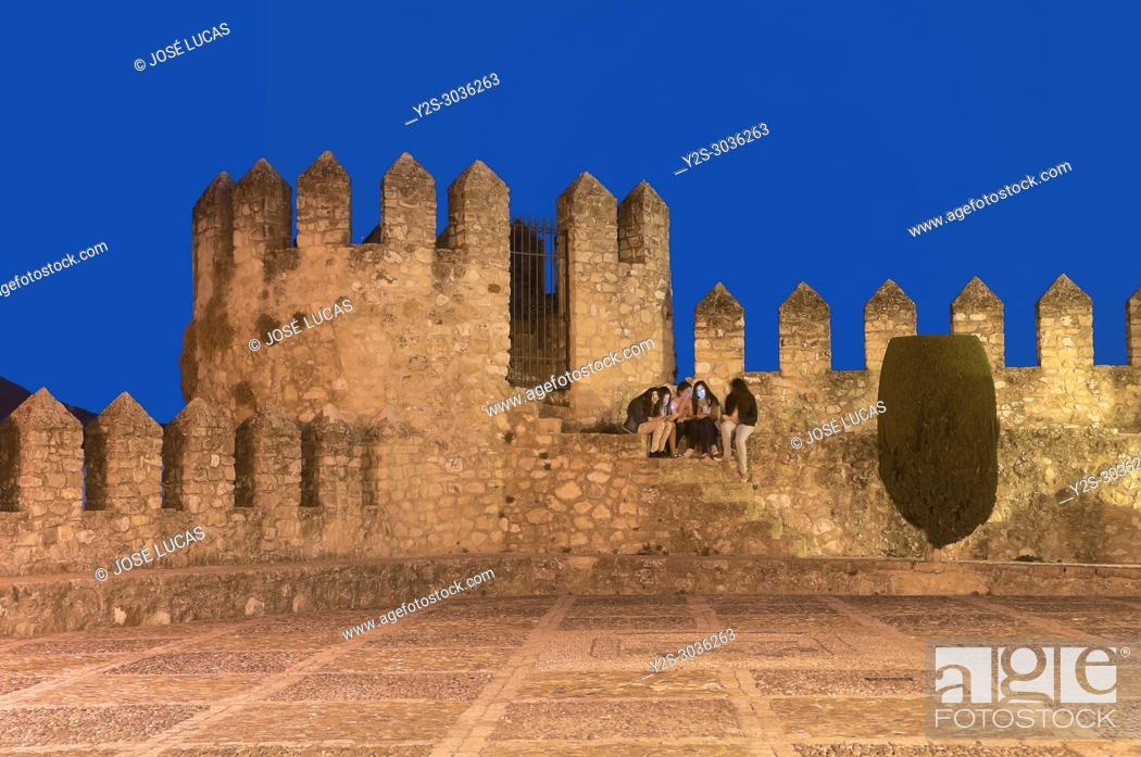 Stock Photo: Castle Palace of the Counts of Cabra (9th century). Cabra. Cordoba province. Region of Andalusia. Spain. Europe.