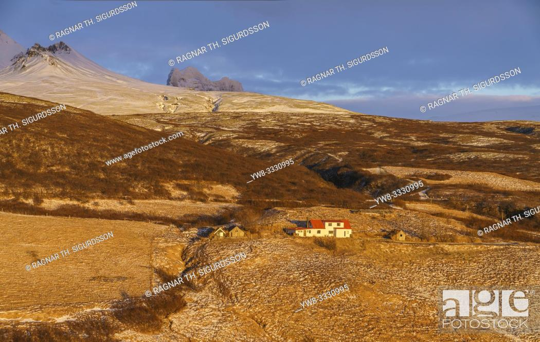 Stock Photo: Farmhouse, Skaftafell National Park, Iceland.