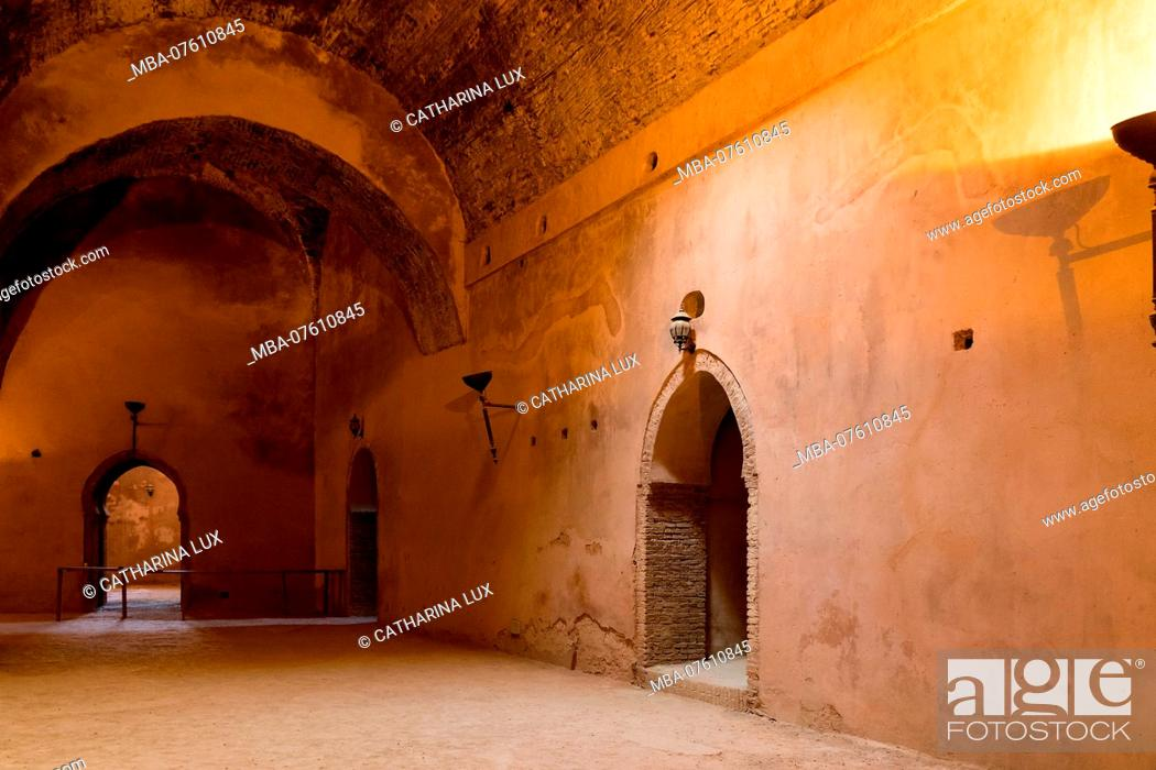 Stock Photo: Morocco, royal city Meknes, Ville Imperiale, Heri Souni (former granary).
