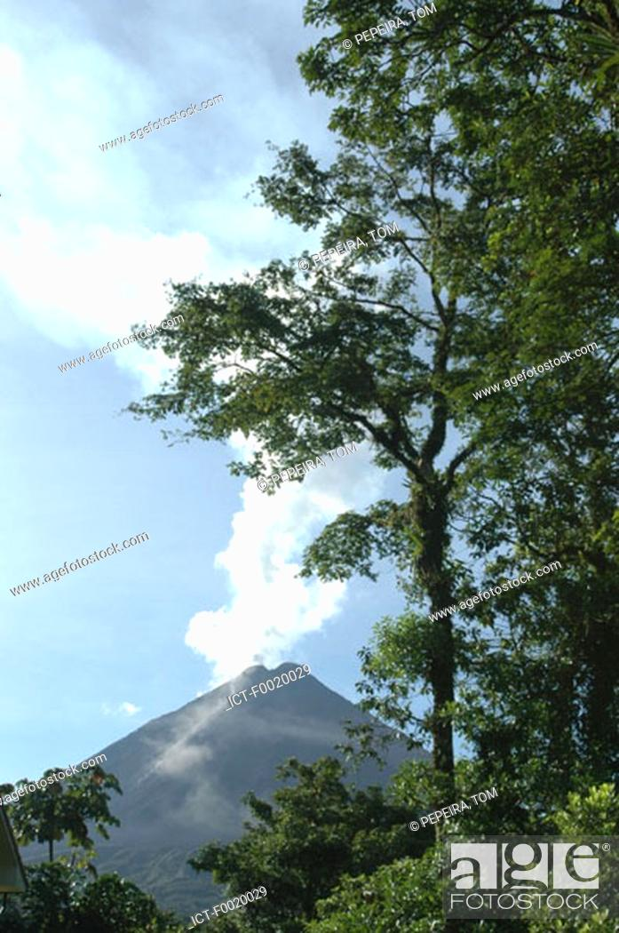 Stock Photo: Costa Rica, Arenal Volcano National Park.
