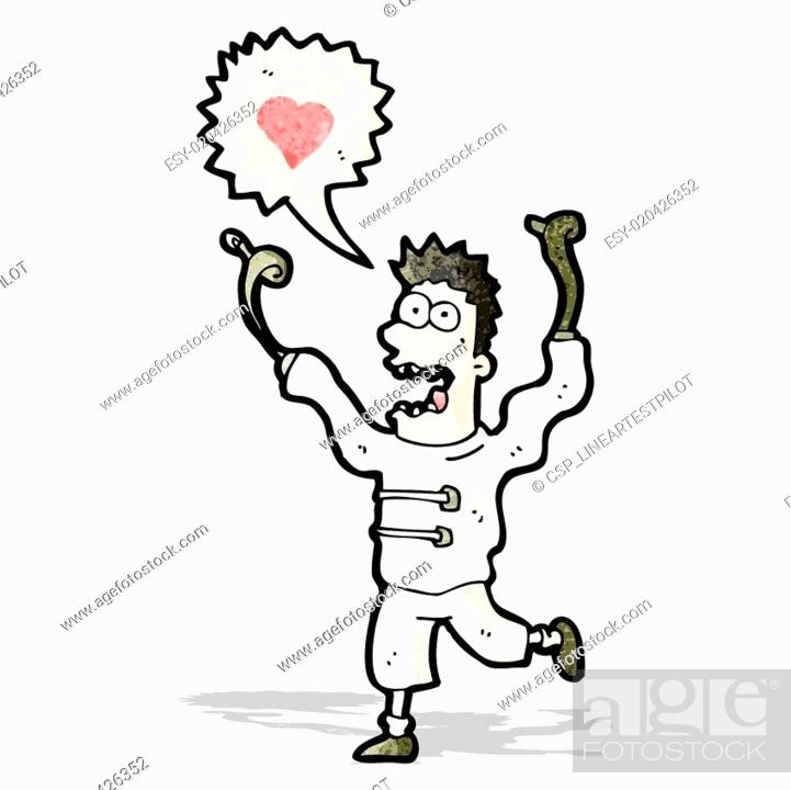 cartoon crazy man in straight jacket stock vector vector and low