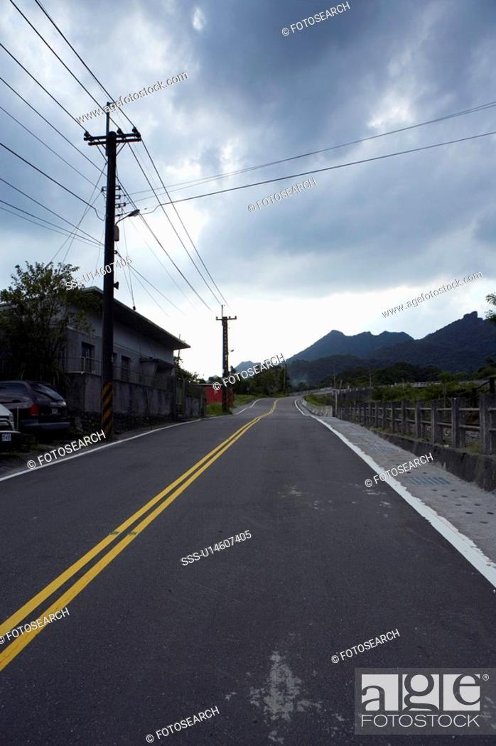 Stock Photo: Country Road Jing Tong, Ping Si, Taiwan.